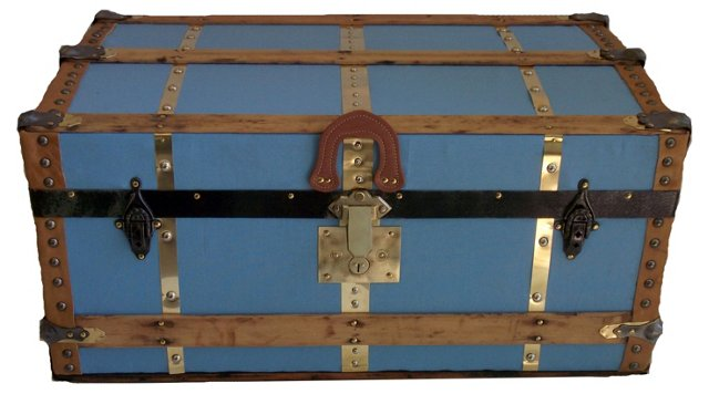 19th-C. Steamer Trunk