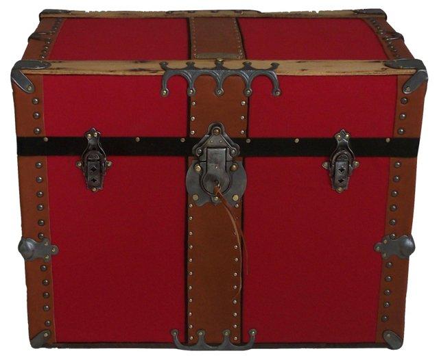 Antique Box Trunk, C. 1870