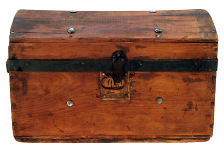 Antique Barrel-Top Trunk, C. 1860