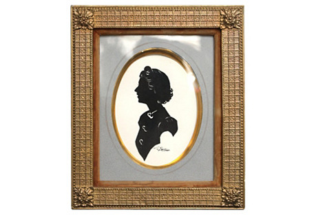 Silhouette by Nancy Van Court, Framed