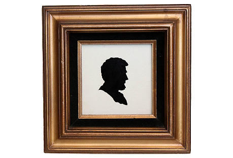 Square Framed Lincoln Cutout