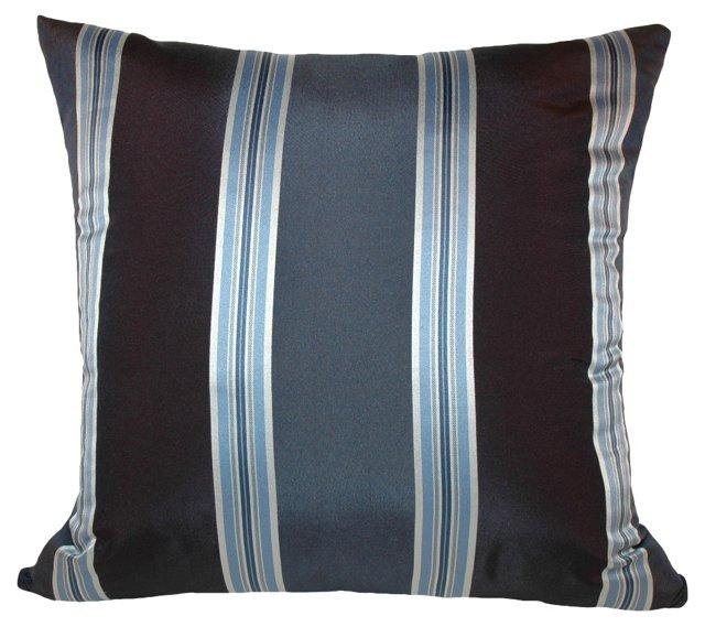 Blue-Striped   Pillow