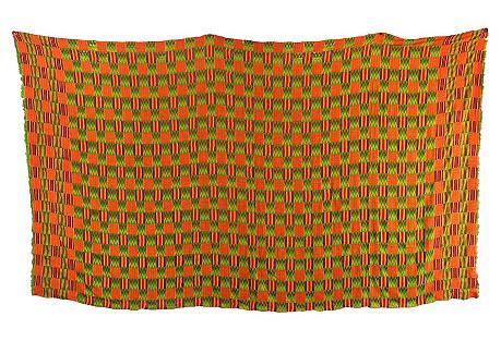 Handwoven Green Kente Cloth
