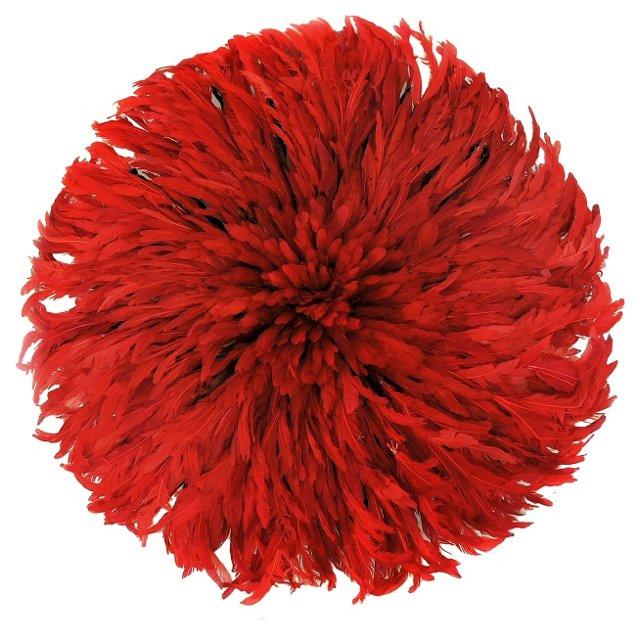 Red Juju Feather Headdress