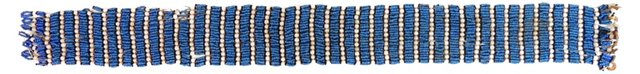 Xhosa Blue Beaded Belt