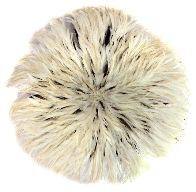 Juju White Feather Headdress