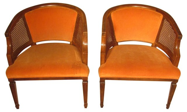 Tub Chairs,  Pair