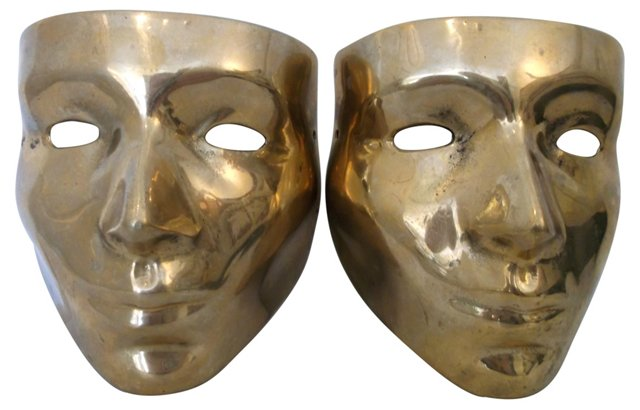 Brass Masks, Pair