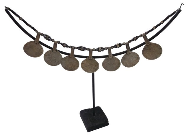 Antique  Berber Necklace on Stand