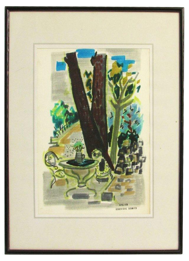 Le Jardin by Genevieve Schmied