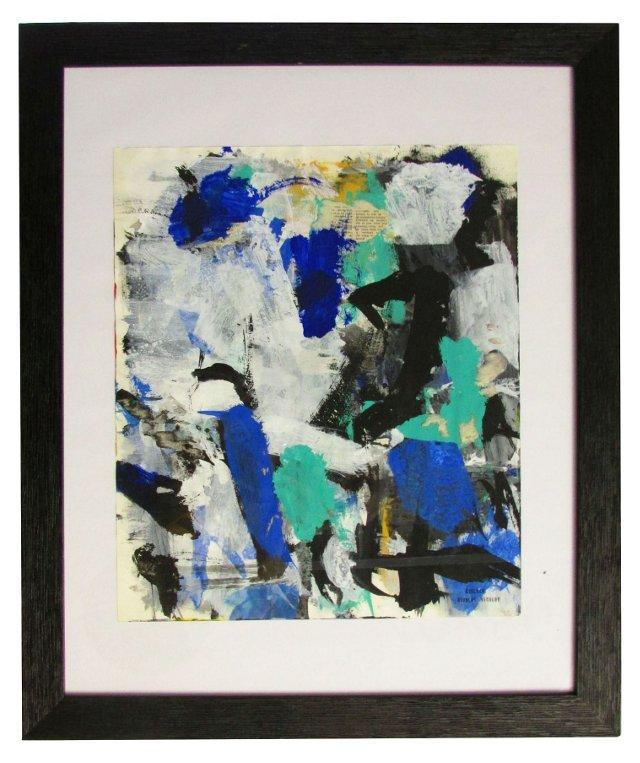 Abtract Blue by Nicolas Nicolov