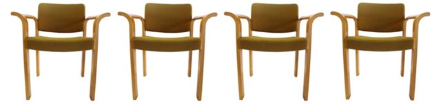 Danish Armchairs, Set of 4