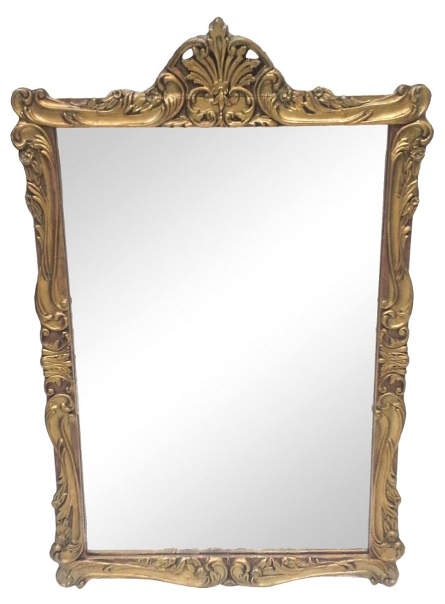 Gilded Art Nouveau Mirror