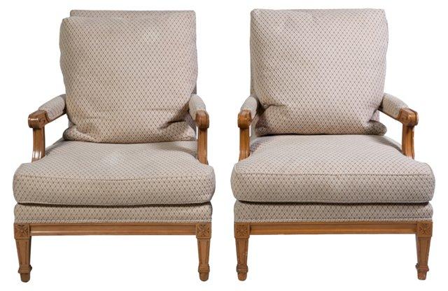 Nancy   Corzine Chairs, Pair