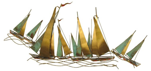 1960s Jeré Sailboat Sculpture