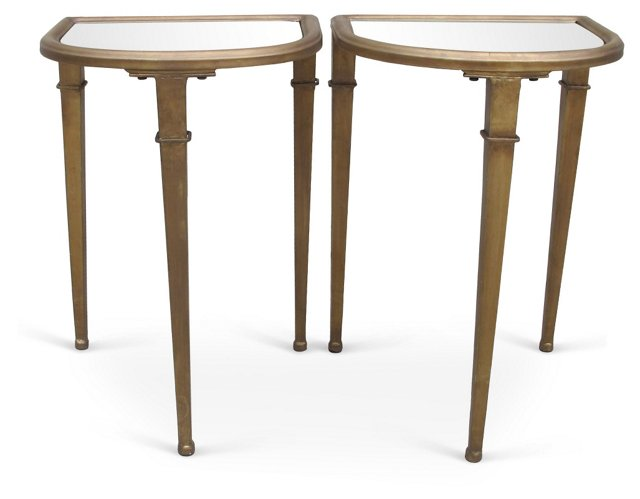 French Art Deco Side  Tables, Pair