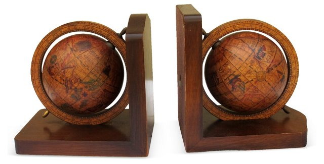 Italian Armillary Sphere Bookends