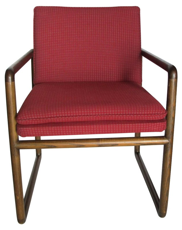 1960s Sled Chair by Ward Bennett