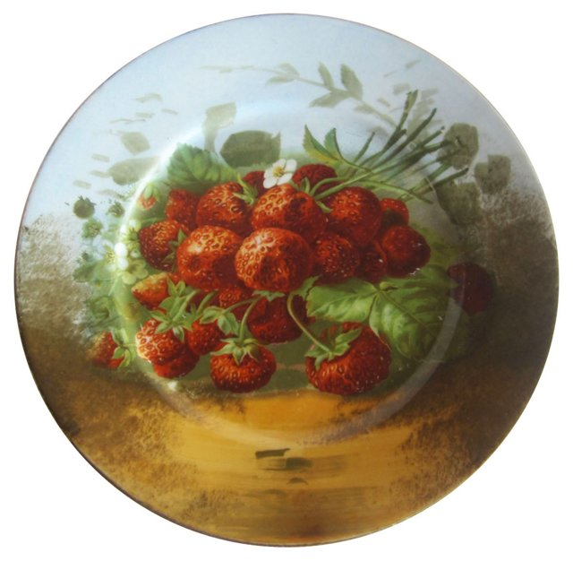 Limoges Strawberry Plate