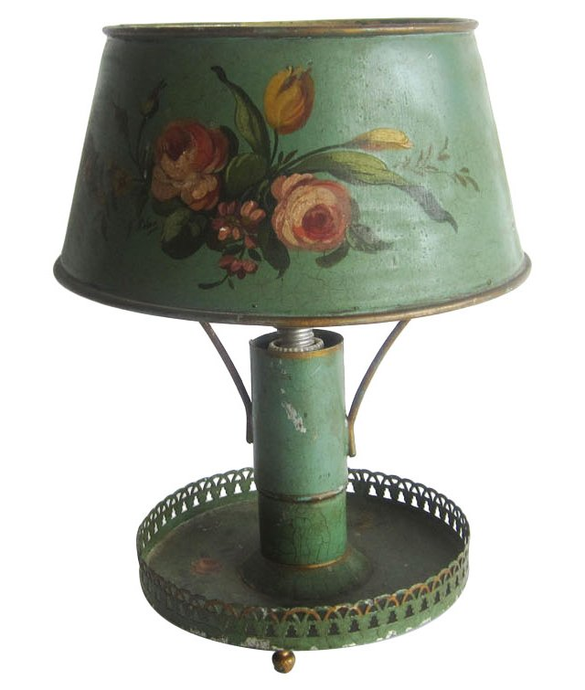 Flower Tole Lamp