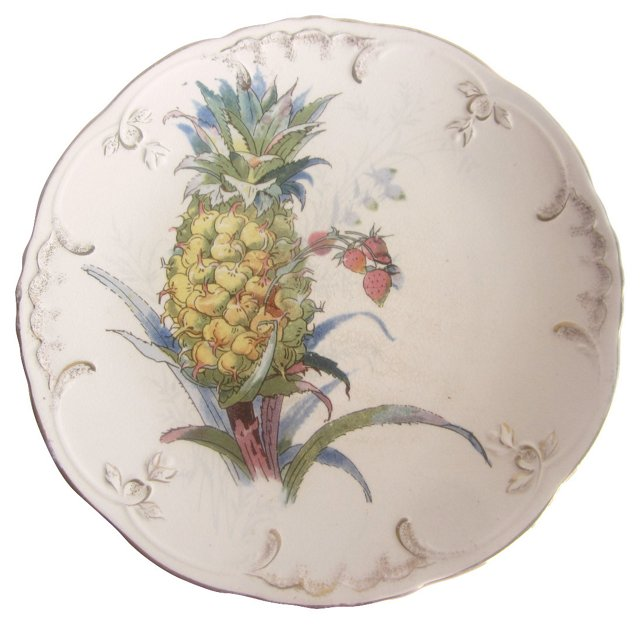 Antique Pineapple Plate
