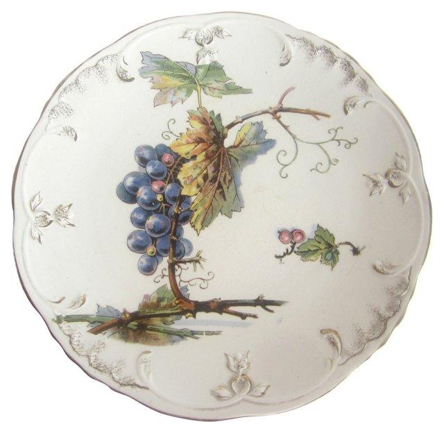 Antique Grape Plate