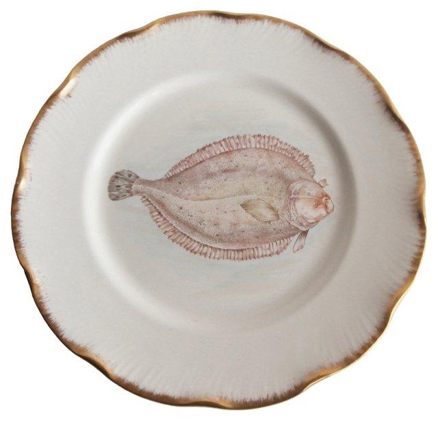 Antique Fish  Plate