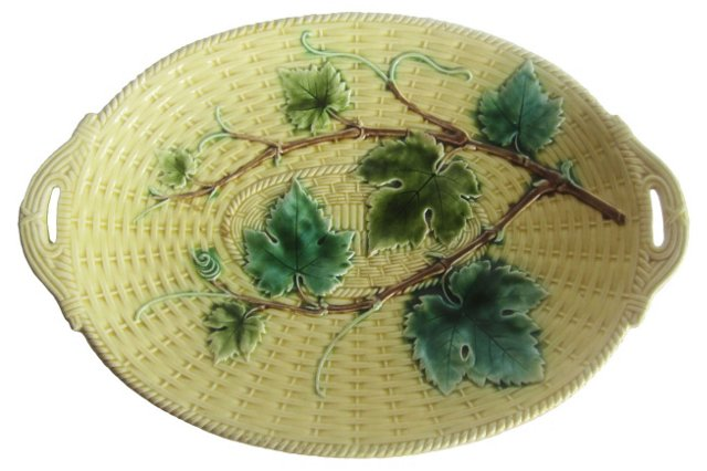 Majolica Vine & Leaves Wall Platter