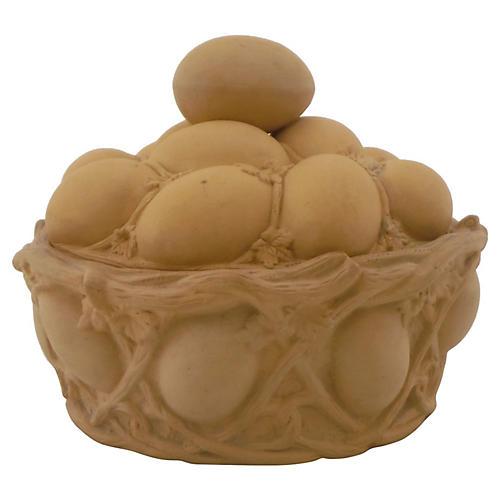 Caneware Egg Basket Tureen