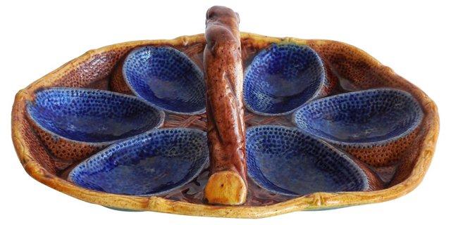 Majolica Egg      Plate