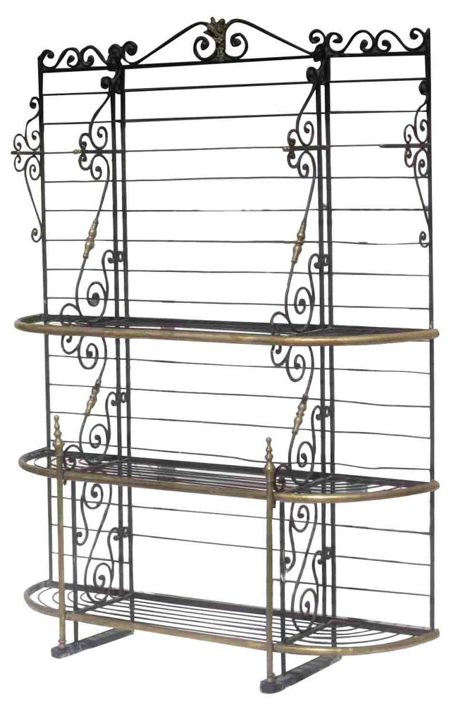 Antique French Baker's Rack
