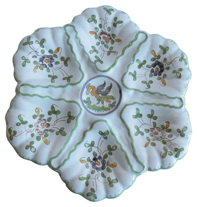 French Faience Oyster      Wall Plate