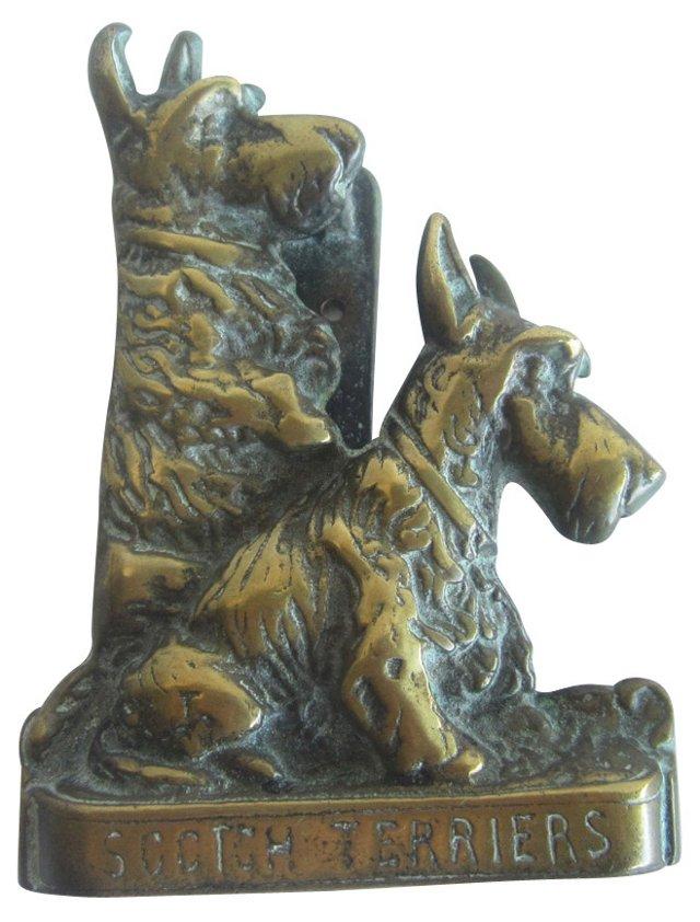 Brass Terriers Door Knocker