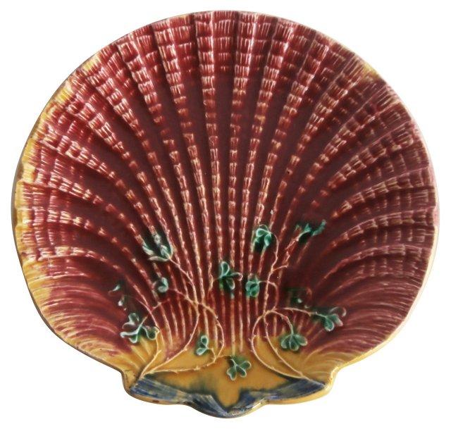 Majolica  Shell Wall Plate
