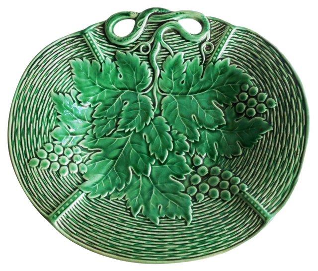 Majolica Green Wall Platter