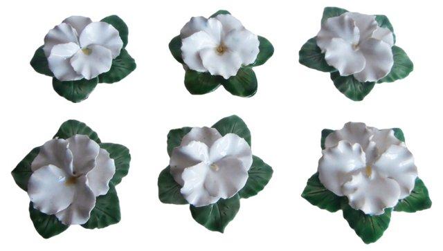 Majolica Flowers, S/6