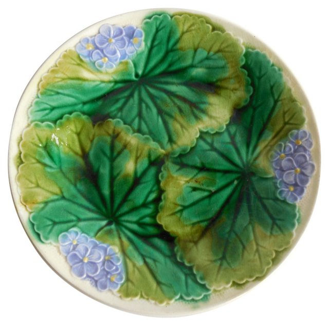 Majolica Hydrangea Wall Plate