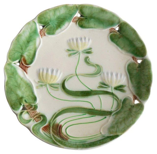 Majolica Lily Wall Plate