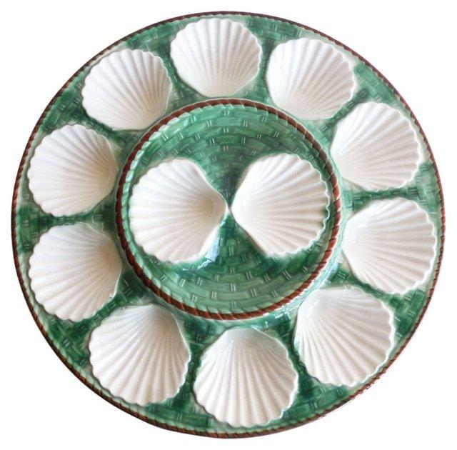 Majolica Oyster Wall  Platter