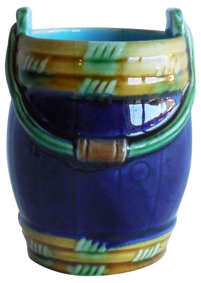 Minton Majolica Bucket Vase