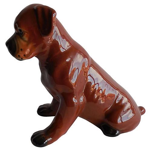 Majolica Bulldog, C. 1950