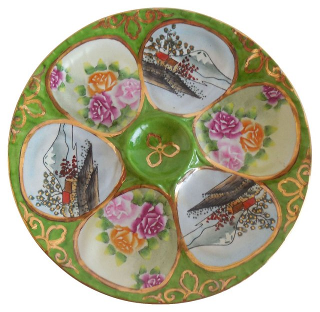 Porcelain Oyster Wall  Plate