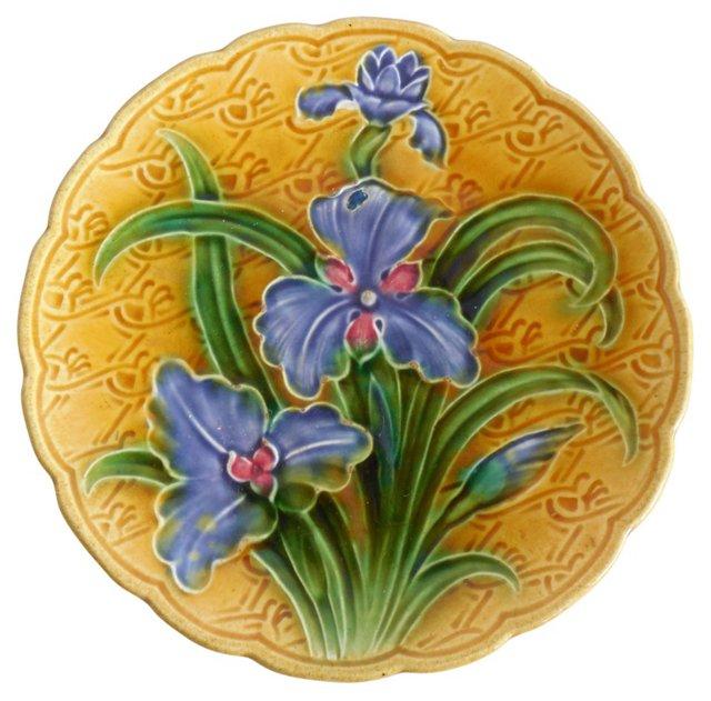 Majolica   Iris Wall Plate
