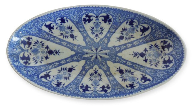 French Blue & White    Dish