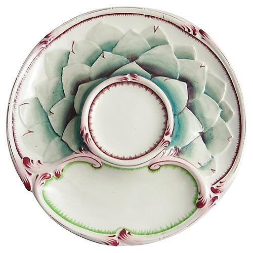 Majolica Artichoke Wall Plate
