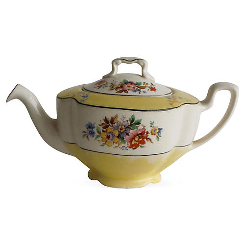 English Flowers Teapot