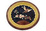Majolica Bird & Fan Bread Platter