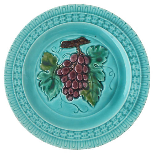 Majolica Grapes Plate