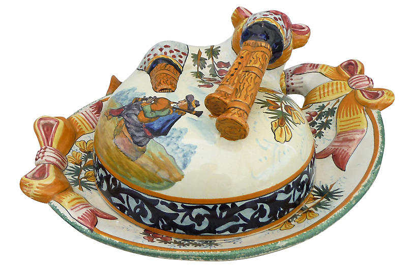 Quimper Butter Cheese Dish