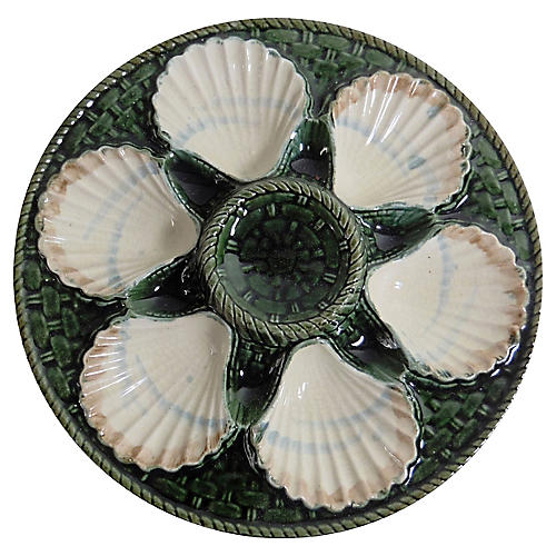Majolica Oyster Wall Plate